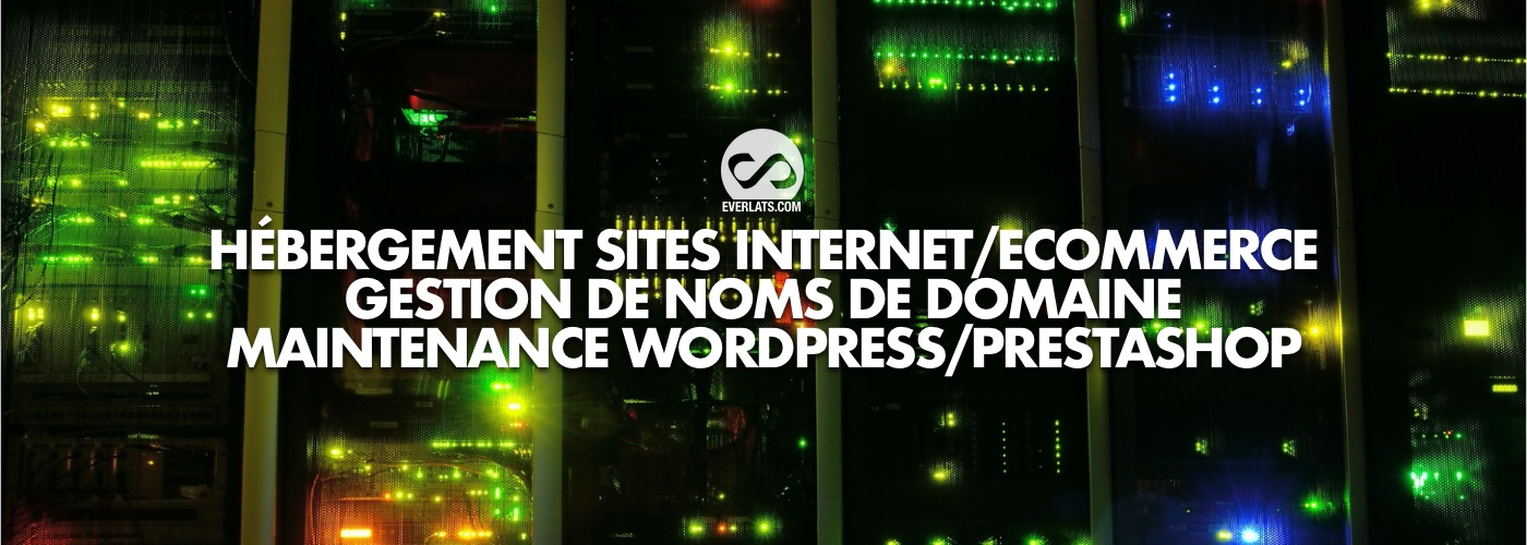 Hébergement Sites Internet/eCommerce, gestion de doms de domaines, maintenance wordpress/Prestashop
